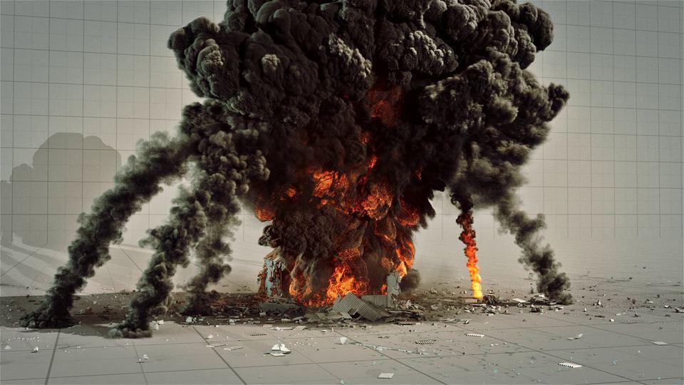 Houdini-PyroFX-Huge-Explosion-Hangar-1