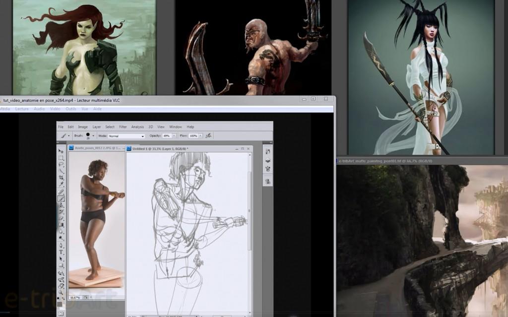 cours en ligne dessin photoshop