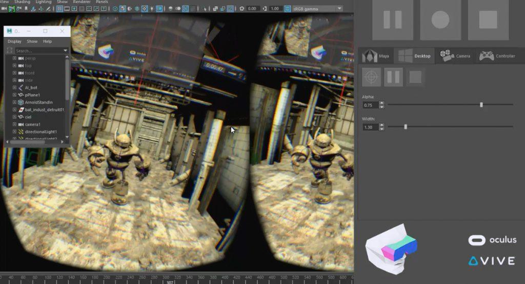 cours de 3D Maya en VR