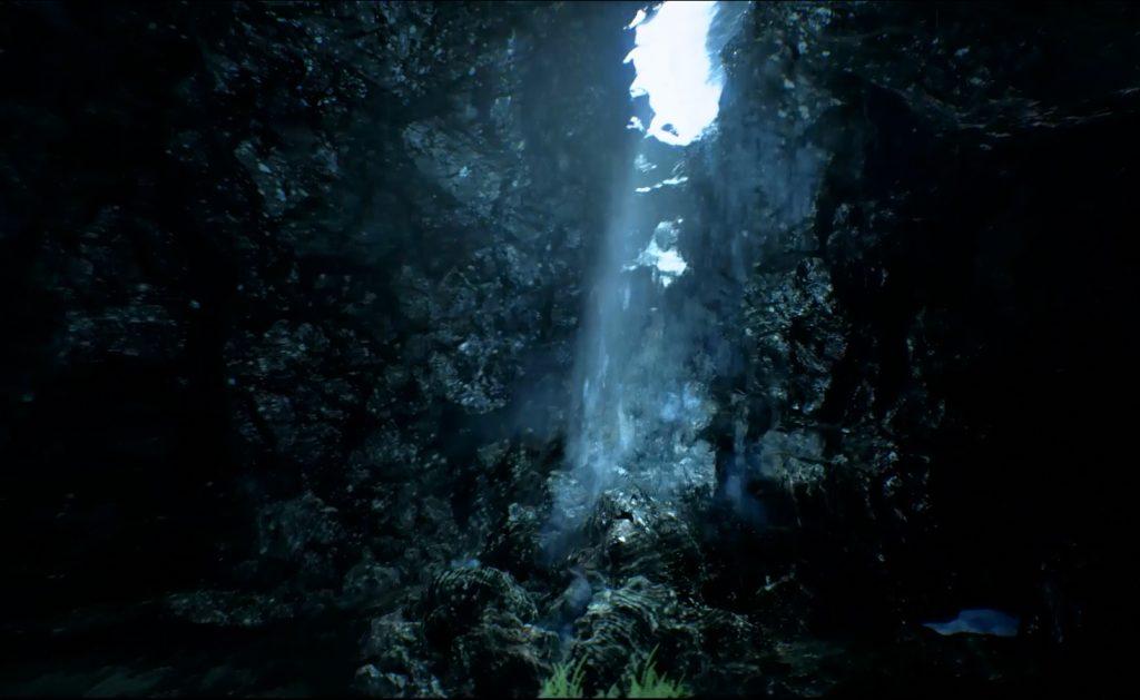 cascade d'eau Unreal Engine