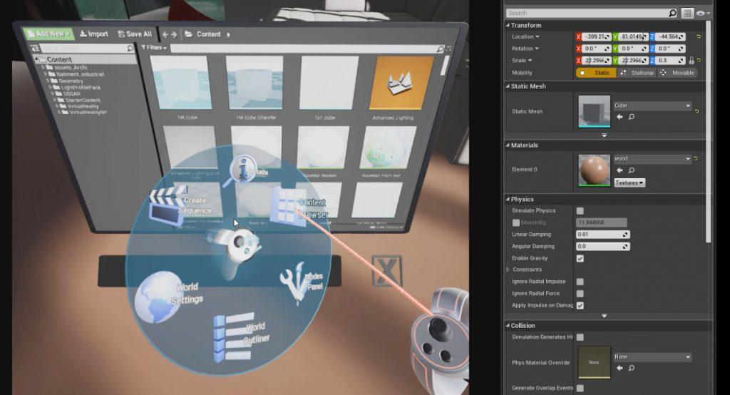 unreal engine en VR