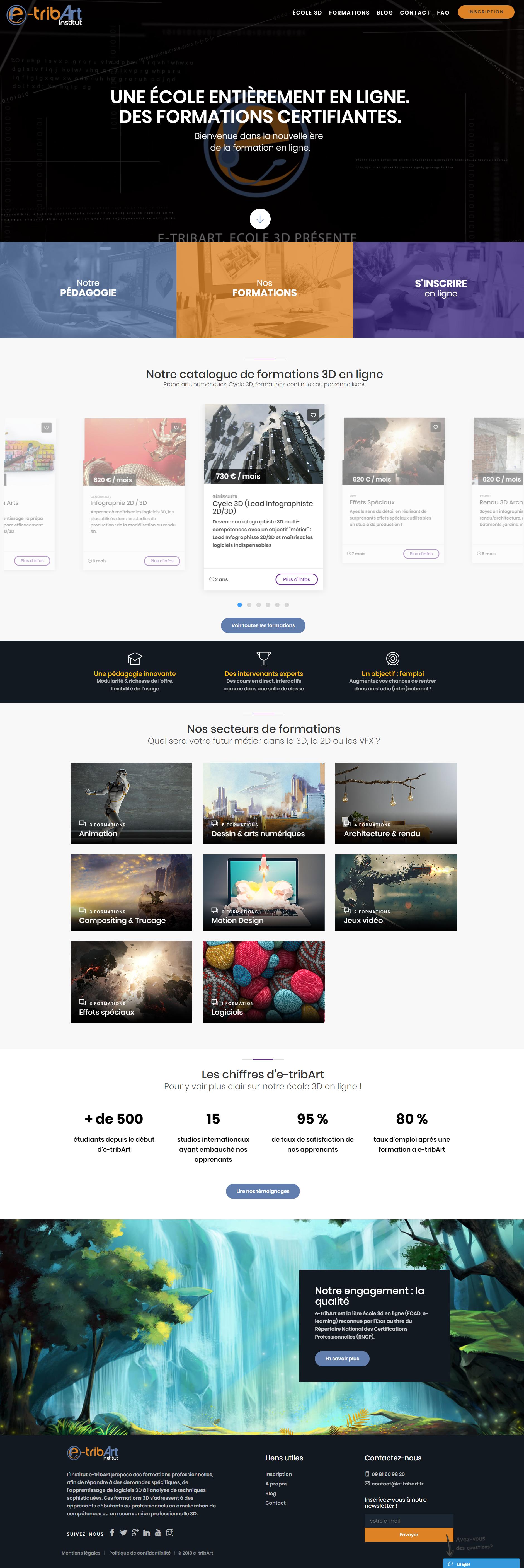 nouveau site web e-tribart